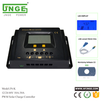 pwm solar charge controller 10Amp 20A 30A 12v 24v 48v street light charge controller lcd display USB port