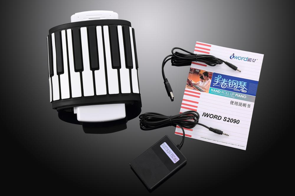 Flexible roll up MIDI grand piano /Electric piano for kids play/practise