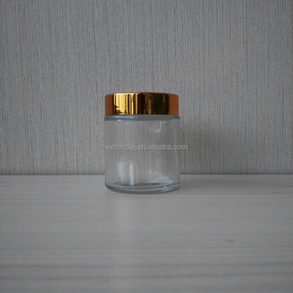 glass cream jar with glass cream jar <strong>100</strong> <strong>g</strong> with clear glass jar