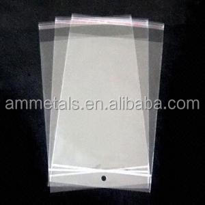 opp bags with adhesive strip