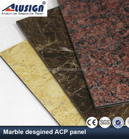 Alusign one-stop manufacture 2-6mm panel thickness acp black granit aluminum composite panel