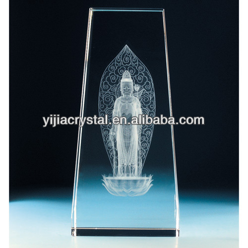 3d laser crystal glass religious figurine