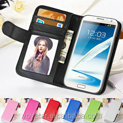 Hot!! wallet leather case for Samsung Galaxy note 2 N 7100 , wallet credit card cover pouch case for Samsung note 2