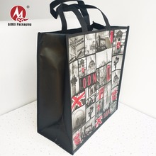 Custom logo printed recycled pp tote fabric non-woven shopping bag for t-shirt