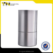 Professional services simple design metal round tin can easy open ends