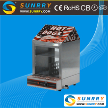 2018 hot selling hot dog display warmer steamer with hot dog broiler (SUNRRY SY-WD65)
