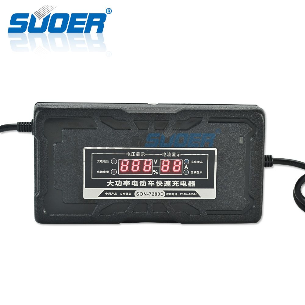 Suoer High Power Fast Intelligent 72V 6A/9A Electric bike battery charger