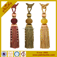 china supplier curtain beaded polyester tassel