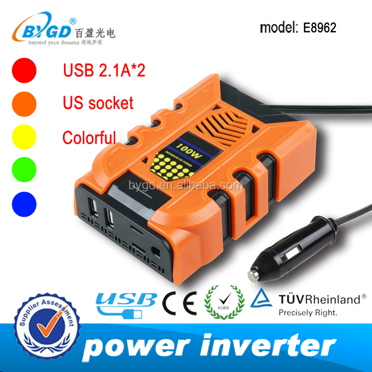 Smart 150W 12v 240v car power inverter with 2.1A USB