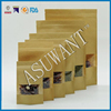 Accept Custom Order and Food Industrial Use kraft paper bag with window/paper window sos bag laminated material