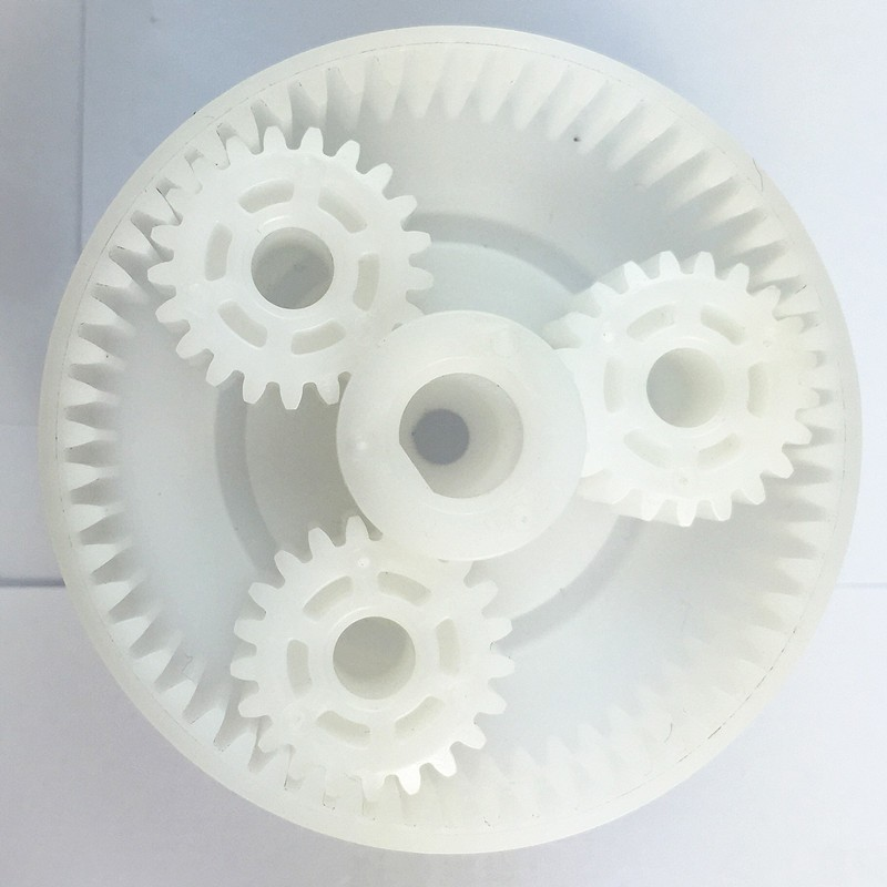 Delrin plastic molded gears and plastic planetary gears system