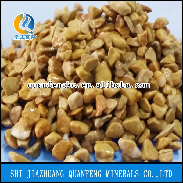 Mixed natural landscaping colored crushed stone, High quality artificial color sand, Color gravel Size 3-9mm