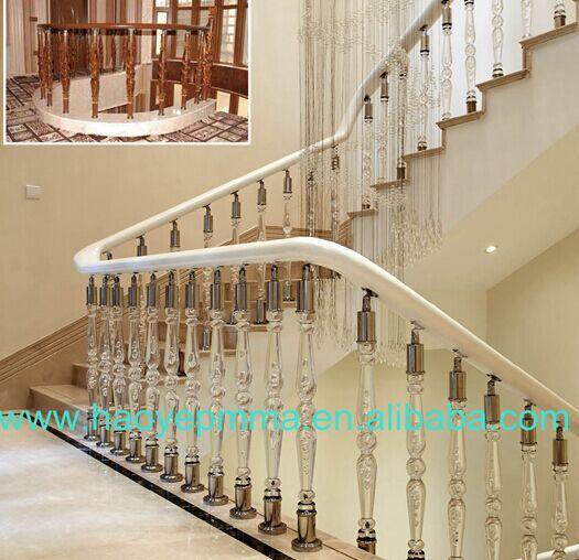indoor decoration acrylic balcony models in homes