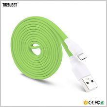 1M V8 Custom Flat Noodles Data Charging Ultra Thin Micro Usb Cable