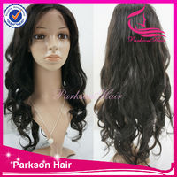 Beautiful layered candy curly long human hair wig, unprocessed cheap malaysian curly full lace wigs