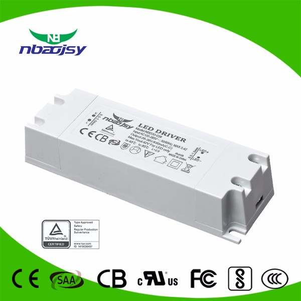 60W 65W 900ma 1500ma 1800ma TUV CE SAA Approved LED Driver 5 Years Warranty For Indoor