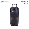 Wholesale high power plastic portable trolley speaker with Flashing DJ Lights