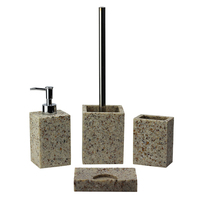 BX group stone filled resin home shower room accessory bathroom set