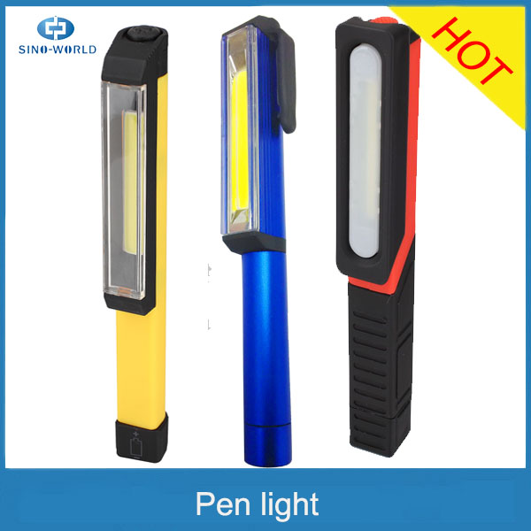 The Larry Classic 8 LED pen Light with Magnetic Clip led work light for promotion