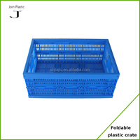 collapsible storage container vegetable crate folding plastic box