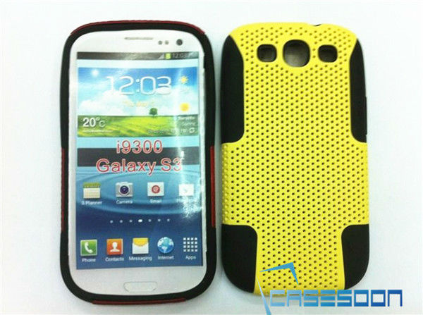 New Hybird MESH SILICONE COMBO CASE FITS for Samsung Galaxy S3 i9300, Mesh hybird combo Case