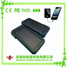 New arrival High capacity solar power bank 10000mah with SOS and Lighter function