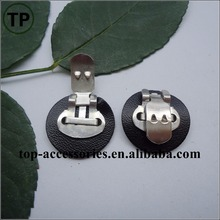 Wholesale leather combined metal shoe clips for shoe buckle