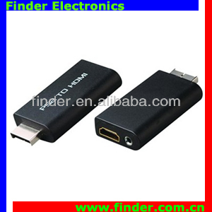 New style PS2 AV input and HDMI +3.5mm Audio output video and audio Converter Adapter with scaler