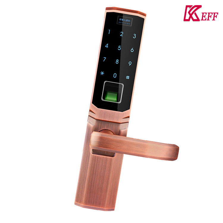 Low battery alert 4.5V biometric security fingerprint door locks with CE certification