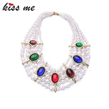 Women Latest Designs Beads Accessories Wedding Pearl Necklace/ Bib Necklace