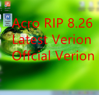 Latest offcial Version AcroRIP 8.26 Acro RIP software for white ink printing support more printers