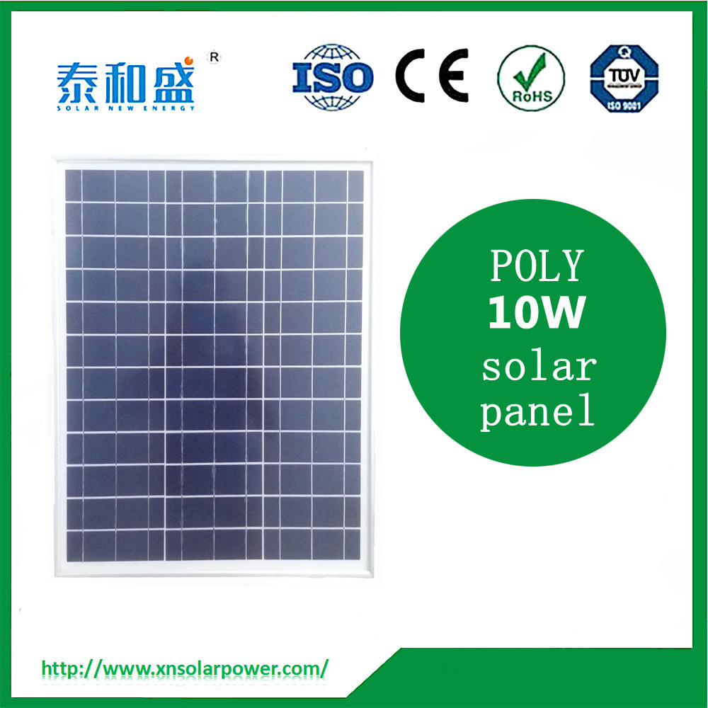 China top 1 manufacture solar panels 10 watt polycrystallline solar panel for home use