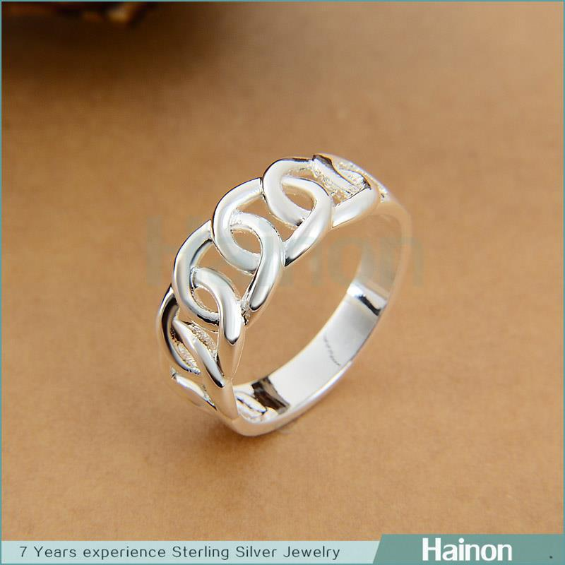 Latest 925 stamped silver Olympic design jewelry women finger ring