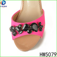 HW5079 The High Level Charming black christmas shoe ornament For Charming Women Shoes