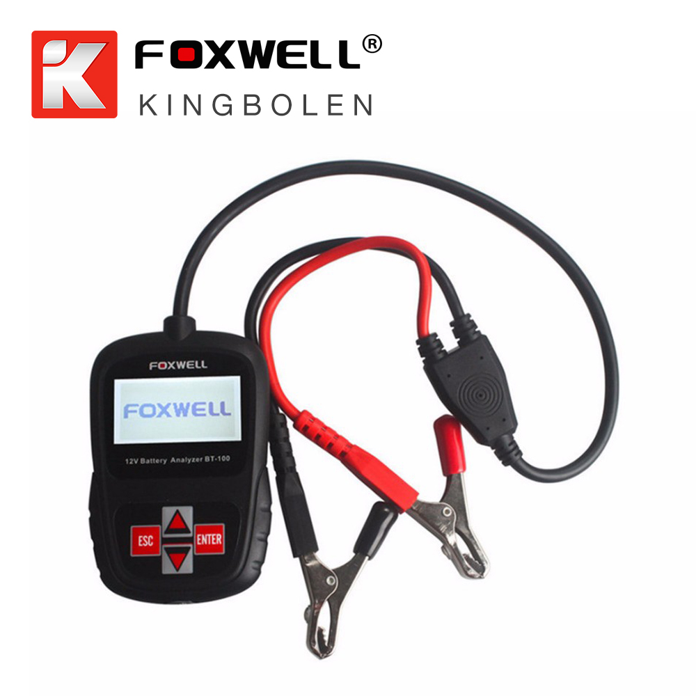 Original FOXWELL BT100 12V Car Battery Tester for Flooded, AGM, GEL Original BT 100 12 Volt Battery Analyzer