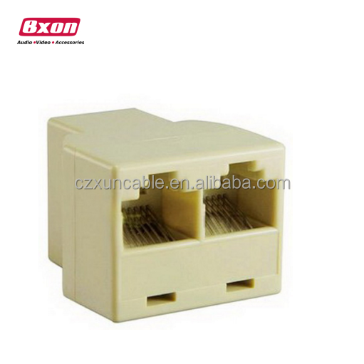 Bxon RJ45 Ethernet LAN Network Y Splitter 2 Way Adapter 3 Ports Coupler Split <strong>1</strong> to 2