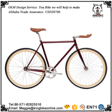 4130 Cr-Mo Colorful 700C Fixed Gear Bike / Chromoly Track Bicycle
