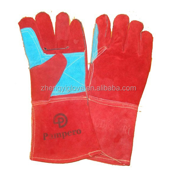 Safety Welding Glove Wholesale Orange Cow Split Leather Work Welding Gloves Welding Gloves Price