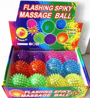 Flashing rubber massage bounce ball spike bounce ball kids toy