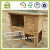 SDR0102 Cheap Outdoor backyard wooden double decker 2 story rabbit hutches with tray