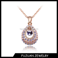 Fashion austria crystal women 18k gold nepal necklace jewelry wholesale