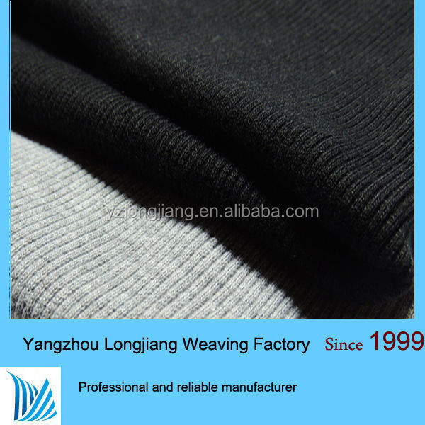 high standard wool silk jersey knit fabric rib for making high end quality garment