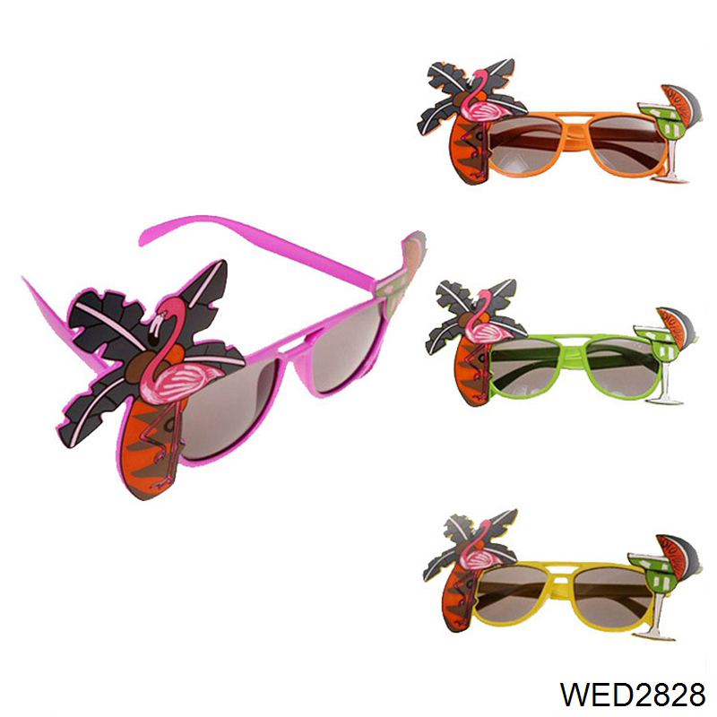 Wedding Party Home Decorations Cute Gifts Fancy Dress Tropical Party Glasses Flamingo Decorative Cocktail Hawaiian Sunglasses