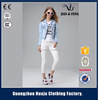2016 Stylish OEM/ODM Women Denim Bomber Jacket