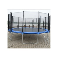exercises buy large sized price kids trampoline with basketball hoop 16ft cloth safety net mesh child wholesale jump