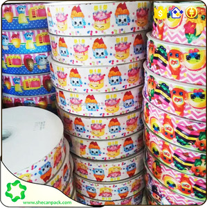 SHE CAN PACK single and double face printing grosgrain ribbon