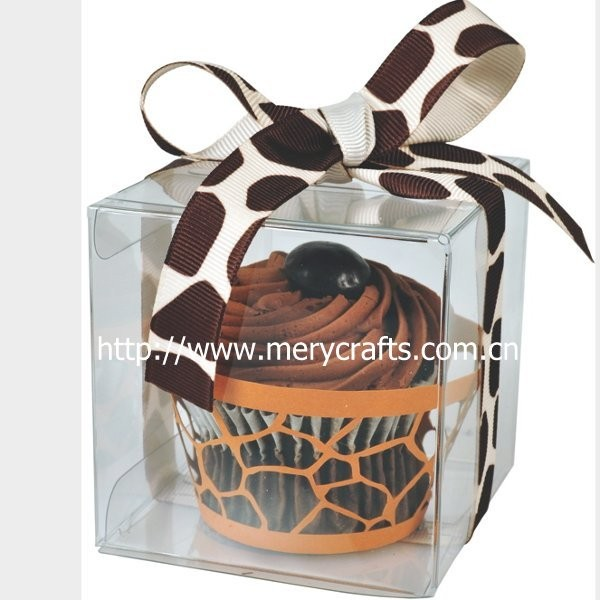 clear plastic cupcake boxes with glossy insert, pvc cakes decorating