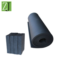 cheap fireproof black closed cell NBR PCV foam rubber Insulation sheets for hvac