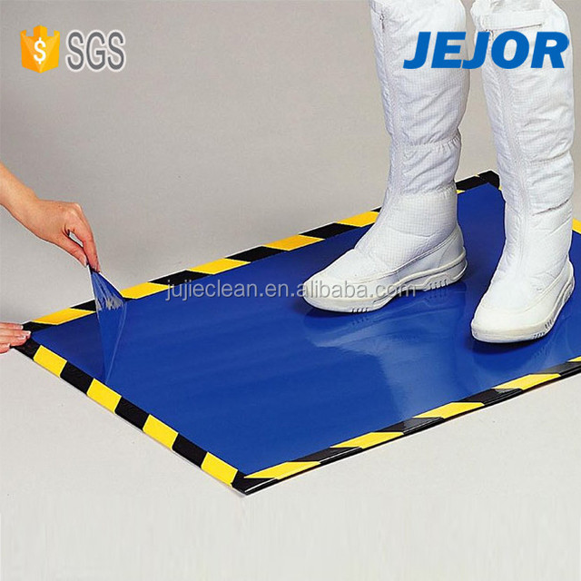 60cmX90cm For Cleanroom Hopspital Lab Use Blue Esd Sticky Floor Mat Singapore