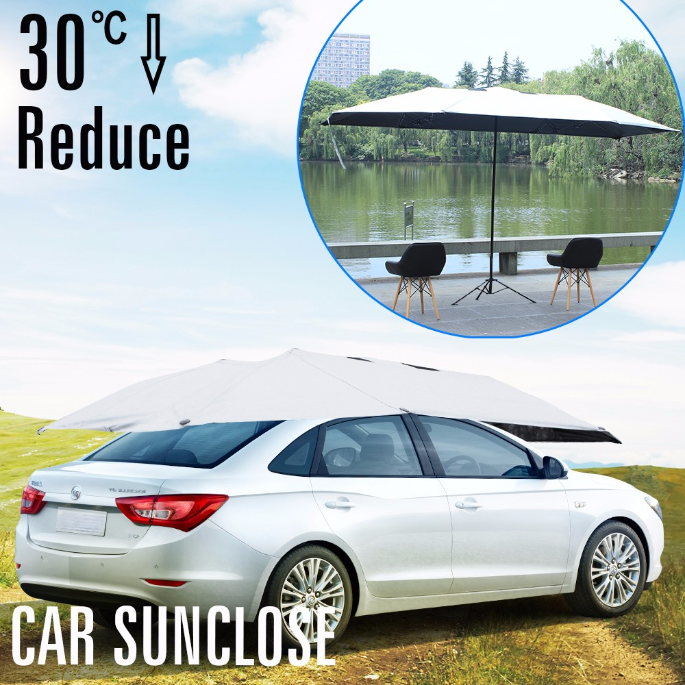 SUNCLOSE cargo trailer cover 7m giant umbrella car suv magnetic windshield windscreen cover